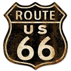 Vintage-style Americana designed by our own Retro Planet artists! You'll love the old-time feel of this Rusted Route 66 Highway Sign, the