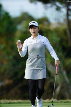 Black Pantyhose, Black Tights, Golf Player, Lpga, Play Golf, Athletic Women, Ladies Golf, Wearing Black, Asian Woman