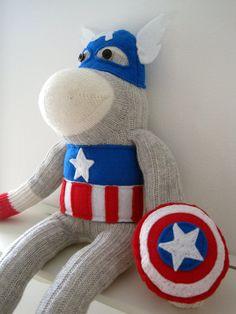 superman sock superman the customized superhero sock monkey plush made ...