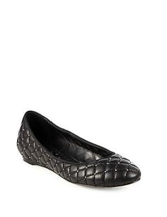 Alice + Olivia Diana Quilted Leather Ballet Flats - Avenue K