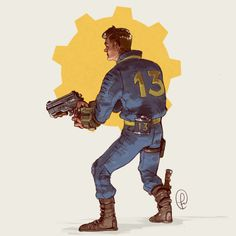 The Vault Dweller – Fallout fan art by Fernando Correa Fallout Fan Art, Fallout Concept Art, Fallout Funny, Character Design References, Character Art, Deviantart, Video Game Artist, Vault Dweller, Fallout Cosplay