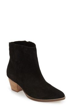 Free shipping and returns on Coconuts by Matisse 'Camilia' Suede Bootie (Women) at Nordstrom.com. This wardrobe-staple suede bootie is all about classic styling, including a pointy toe, concealed elastic goring, a side zip closure and a stacked setback heel.