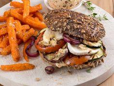 Gemüse satt und Käse, ein herrlicher Veggie-Burger