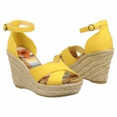 SALE - Rocket Dog Clara Wedge Heels Womens Yellow Canvas - Was $59.00 - SAVE $3.00. BUY Now - ONLY $56.05.
