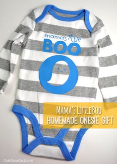 """Mama's Little BOO Baby Onesie Gift Idea - cute Halloween """"Mama's Little Boo"""" onesie 