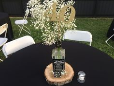 The astounding Men's Jack Daniels Centerpiece Bday Jack Daniels Party, Jack Daniels Wedding, Festa Jack Daniels, Jack Daniels Birthday, Beer Bottle Centerpieces, 50th Birthday Centerpieces, Party Centerpieces, Wedding Decorations, Wedding Ideas