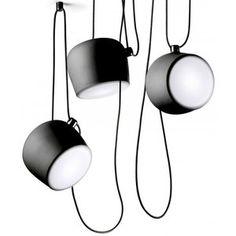 Flos - Aim Sospensione 3 Vlam LED - hanglamp  Design: Ronan en Erwan Bouroullec  Dit is de drie vlam variant, deFlos Aim lampis eenminimalistische en speelse hanglampontworpen door de gebroede...