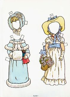Kate Greenway Paper Dolls by Kathy Allert 1981 - Dover Publishing Co: Plate 7 (9 of 20)