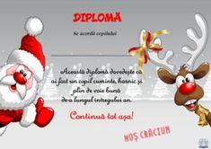 Diplome de la Moș Crăciun cu mesaje pentru copiii cuminți. Sunt în format A4, pot fi descărcate, printate și dăruite copiilor Special Rangoli, Winter Magic, Merry Christmas, Christmas Ornaments, Simple Rangoli, Rangoli Designs, Holiday Decor, Creative, Crafts