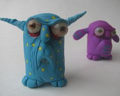 Items similar to mini monster Bob ooak art doll sculpture on Etsy Ceramic Monsters, Clay Monsters, Ceramic Animals, Mini Monster, Monster Dolls, Monster Art, Sculpture Clay, Soft Sculpture, Monster Wreath
