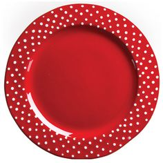 VIETRI Rosso Vecchio Dot Service Plate/Charger. Hand-made of terra cotta in Tuscany. Dishwasher and microwave safe.  ADORE!