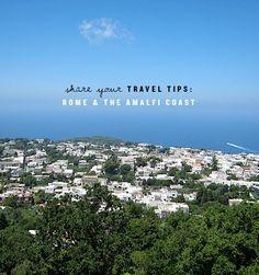 travel tips for Rome & Amalfi?