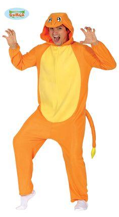 Oranssi+lohikäärme Pokemon Kigurumi, Charmander Pokemon, Costume, Unisex, Color Negra, Drake, Onesie, Cartoons, Jumpsuit