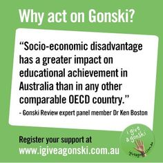 Why act on Gonski?