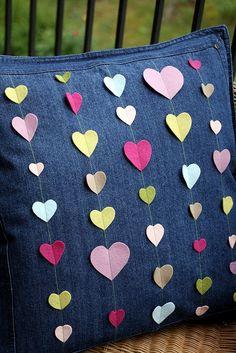 36 Hearts Pillow