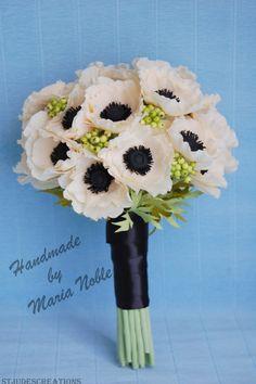Paper anemones and fresh flowers! | Paper Flowers Handmade Tutorials DIY