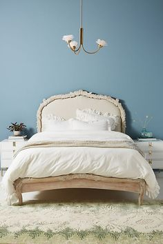 Your bedroom is a personal oasis. Populate it with unique bedroom furniture from headboards to dressers. Shop Anthropologie for your next treasure. Unique Bedroom Furniture, Hanging Furniture, Bed Furniture, Bedroom Decor, Wooden Furniture, Furniture Makeover, Furniture Ideas, Bedroom Ideas, Unique Bed Frames