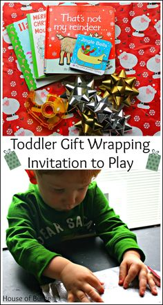 Toddler Gift Wrapping Invitation to Play - House of Burke