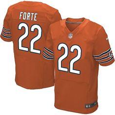 $89.99 Men's Nike Chicago Bears #22 Matt Forte Limited Alternate Orange Jersey