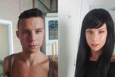 Post with 6140 views. Still needing to wear a wig but so happy with the changes :) left pre-HRT, right 3 months HRT Transgender Before And After, Mtf Before And After, Male To Female Transition, Mtf Transition, Male To Female Transgender, Transgender People, Mtf Hrt, Trans Mtf, Male To Female Transformation
