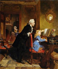 Childhood of Mozart by Ebenezer Crawford (British c.1830–1873)