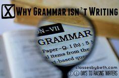 Day 3 – Why Grammar isn't Writing