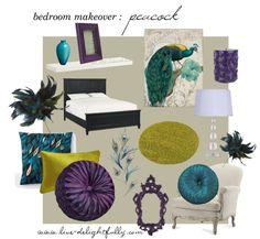 Live Delightfully: inspiration : peacock bedroom makeover