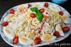 Salada de arroz c/ frango e muito mais | ratatui dos pobres