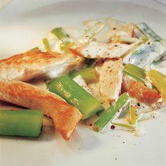 Recette aiguillettes de poulet à la crème de poireaux - Cuisine / Madame Figaro