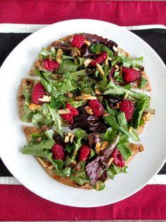 Raspberry Salad or Flatbread with Cocoa Balsamic Vinaigrette