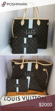Louis Vuitton neverfull gm Brand new neverfull gm with personalized latter c7d11c55f50f4