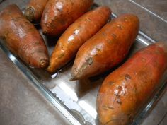 The best way to bake sweet potatoes... hopefully this link won't be broken like my pin! (Tried this... still think microwaving is the way to go.)
