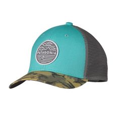 Patagonia Trucker Hat - Chop Hop Lite: Howling Turquoise CHHT