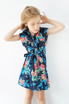 Our classic Shit Dress sleeveless with raw edges. Two Breast pockets and waist tie. Classic and comfortable. Layer with long sleeves and tights. These dresses are size generously. Slow Fashion, Kids Fashion, Ss15 Trends, Childrens Wardrobes, Girl Outfits, Cute Outfits, Tween Girls, Stylish Kids, Kid Styles