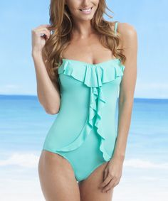 Teal Ruffle One Piece | Daily deals for moms, babies and kids