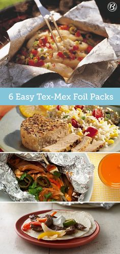 Enjoy a south-of-the-border foil-pack feast any night of the week with these easy recipes at the ready. From fajitas to taco burgers to chile-spiced chicken, these ideas are big on flavor and light on clean-up!