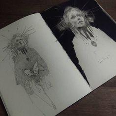 Kunstjournal Inspiration, Sketchbook Inspiration, Arte Sketchbook, Sketchbook Pages, Drawing Sketches, Art Drawings, Sketching, Pretty Art, Aesthetic Art