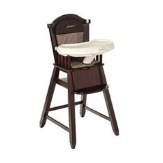 @Overstock - This Eddie Bauer high chair is great for meal times with baby. This high chair features a dishwasher safe tray that can be released with one hand.http://www.overstock.com/Baby/Eddie-Bauer-Wood-High-Chair-in-Michelle/5536521/product.html?CID=214117 $124.99