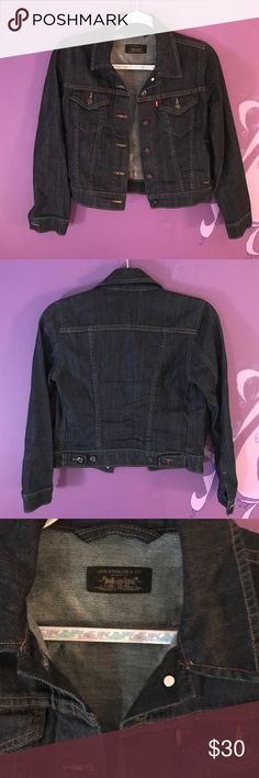 Levi's jean denim jacket small authentic This just in!! Cute Levi's denim jacket. Size small. Perfect for the warmer months. Can pair it with anything! Who dosent love a good denim jacket?!  LINK IN BIO!! #levis #denim #jacket #denimjacket #levisdenim #womensfashion #womensclothing #luxury #luxuryfashion #expensive #forsale #depop #poshmark #ebay #small Levi's Jackets & Coats Jean Jackets