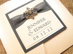 Handmade Wedding Invitations & Pocketfold Invitations – Vienna