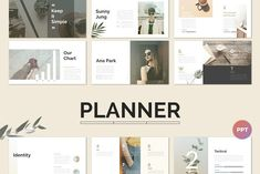 Planner PowerPoint Template by Simple P. on @creativemarket