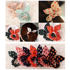 Hair Accessories   Lovef 20 PCS Cute Girls Rabbit Ear Hair Tie Bands Ropes Ponytail Holder 20PCS Rabbit Ear -- You can get additional details at the image link.-It is an affiliate link to Amazon.