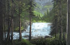 Do you enjoy painting waterfalls, but can't seem to get the bright white highlights on top of the water? Watch Kevin as he shows you how to paint this fast-moving waterfall enclosed in a forest and learn how to add bright highlights to the water to make it stand out in your painting. For more information about full length DVDs lessons, please visit: www.paintwithkevin.com