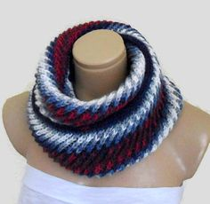 Knitting Patterns Unisex Womens Mens infinity scarf Very warm and soft hand knit infinity scarf in Colorful. Its a piece to w… Mens Infinity Scarf, Hand Knitting, Knitting Patterns, Handmade Gifts For Her, Circle Scarf, Soft Hands, Neck Warmer, Cowl Neck, Fashion Accessories
