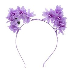 Forever21 LED Light-Up Floral Headband ($8.90) ❤ liked on Polyvore featuring accessories, hair accessories, purple, forever 21 hair accessories, braided headband, purple flower hair accessories, purple headband and hair band accessories