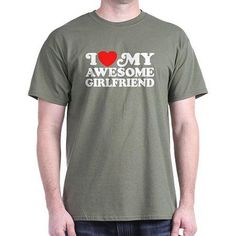 CafePress Big Men's I Love My Awesome Girlfriend T-Shirt, Size: 2XL, Green