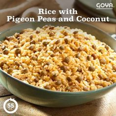 In the Dominican Republic, rice with pigeon peas and coconut create an earthy and delicious dish that locals love during the holidays, or any time of the year. Give it a try!
