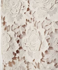 Star Lace Dress (close-up) by Lover Gold Lace Fabric, 3d Star, Antique Lace, Stretch Lace, Long Dresses, Modcloth, Venetian, Lace Dress, Ivory