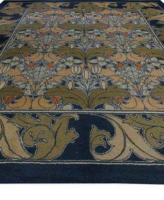 Arts and Crafts Voysey rug - Arts Crafts Rug - Vintage Rug - BB2514 by Doris Leslie Blau