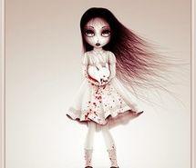 alice, art, blood, cartoon, dark, dress (Full Size)